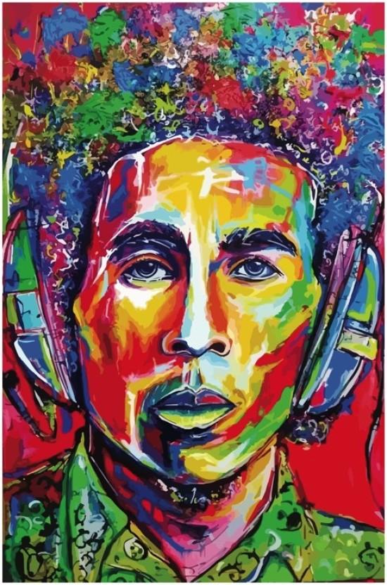 Bob Marley Poster//Psychedelic