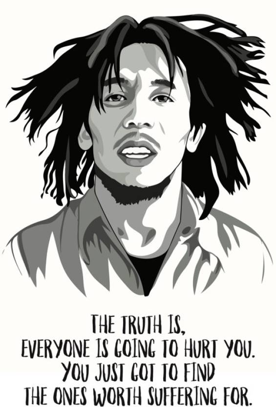 Bob Marley Love Quote Poster Paper Print