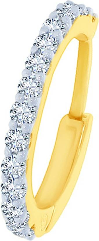 Kalyan Jewellers Saniya Nosepin 18kt Diamond Yellow Gold Ring