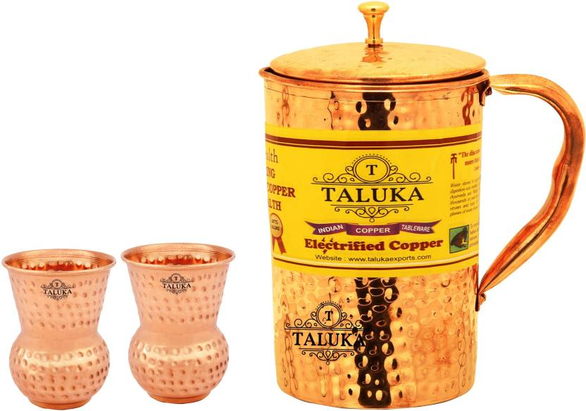 TALUKA T HJBTNO.4 DG2P Jug Glass Set Copper