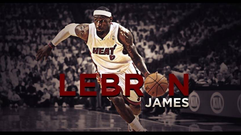 BeLucky Wall Poster Nba Lebron James Miami Heat Mvp Basketball