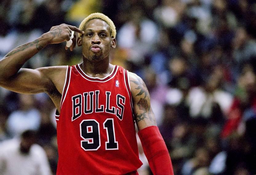 super popular c525c f4050 BeLucky Wall Poster Dennis-Rodman-NBA-basketball-Chicago ...