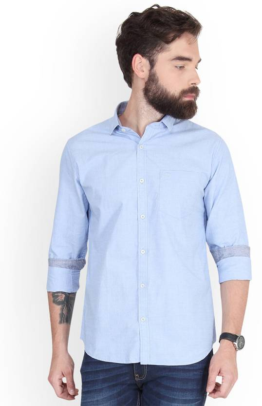 496d9df26 Derby Jeans Community Men's Solid Casual Blue Shirt - Buy Derby Jeans  Community Men's Solid Casual Blue Shirt Online at Best Prices in India |  Flipkart.com
