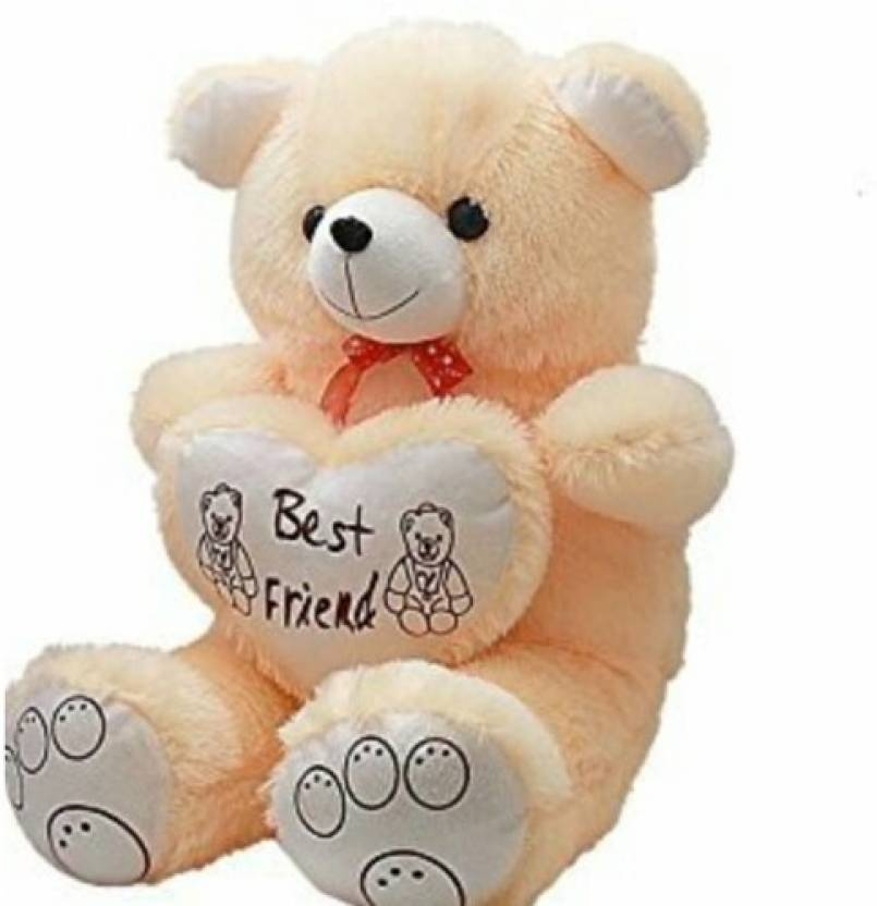 Ansh Soft Toy Best Friend Cream Teddybear  - 70 cm