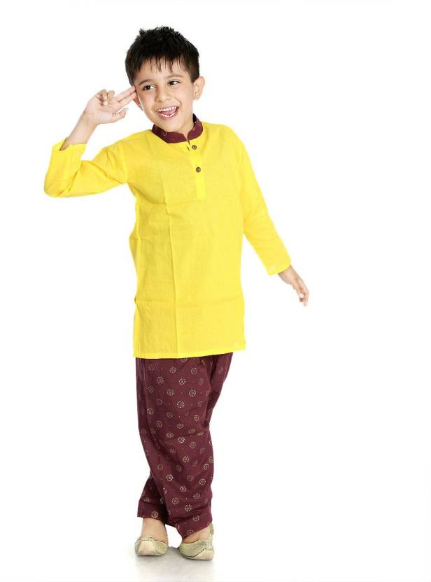 500f7b071 Little pockets store Boys Festive & Party Pathani Suit Set (Multicolor Pack  of 1)