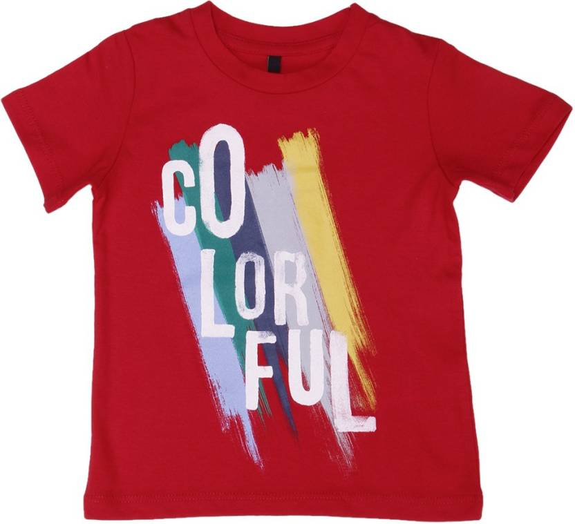 2d099331 United Colors of Benetton Boys Solid Cotton T Shirt Price in India ...
