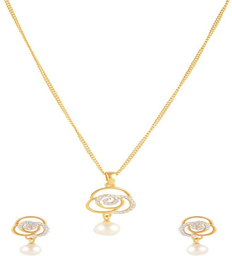 17fe83c0748fe Estelle Cubic Zirconia Gold-plated Plated Alloy Necklace Set Price ...