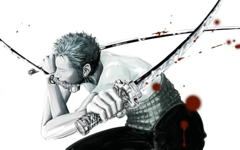 Ananyadesigns Anime Katana One Piece Roronoa Zoro Selective Coloring