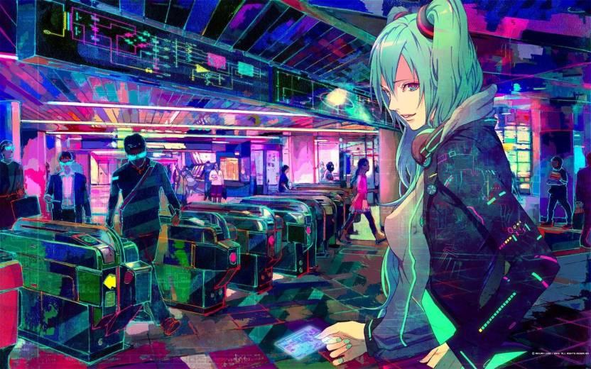 Ananyadesigns Anime Cyberpunk Headphones Hatsune Miku