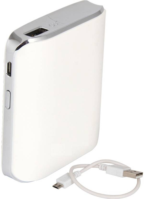Zootkart 5200 mAh Power Bank  SS 2B, High Quality Portable Mobile Charger  White, Lithium ion
