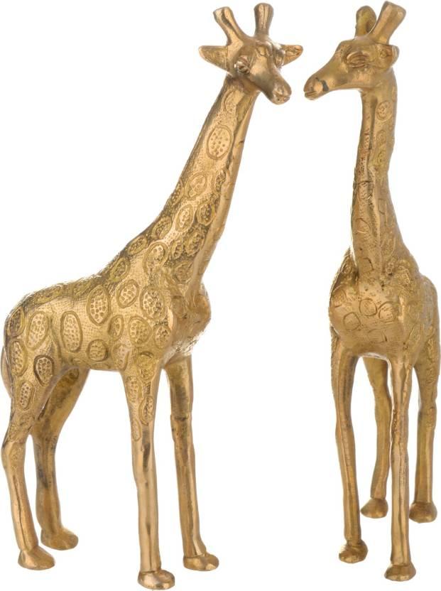 d4e15ff6fc0 AKT Collections Brass Giraffe-Pair Decorative Showpiece - 23 cm (Brass