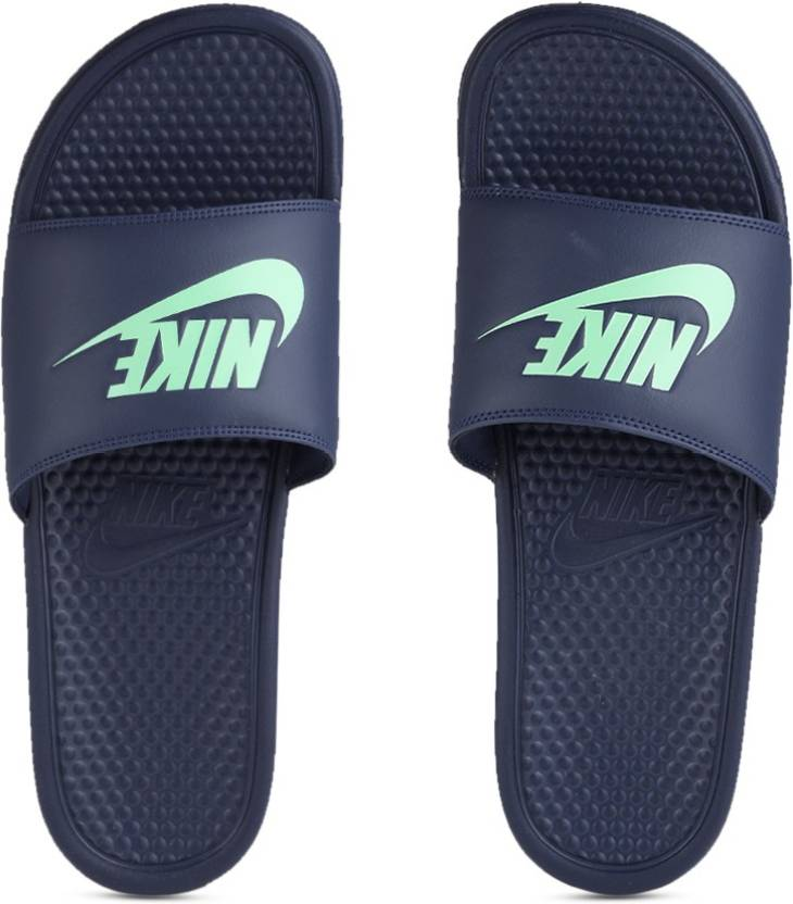 7bd5665c6602 Nike BENASSI JDI Slides - Buy BINARY BLUE FRESH MINT Color Nike BENASSI JDI  Slides Online at Best Price - Shop Online for Footwears in India