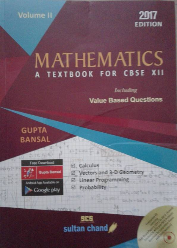 SULTAN CHAND Mathematics A Text Book for CBSE XII Volume II