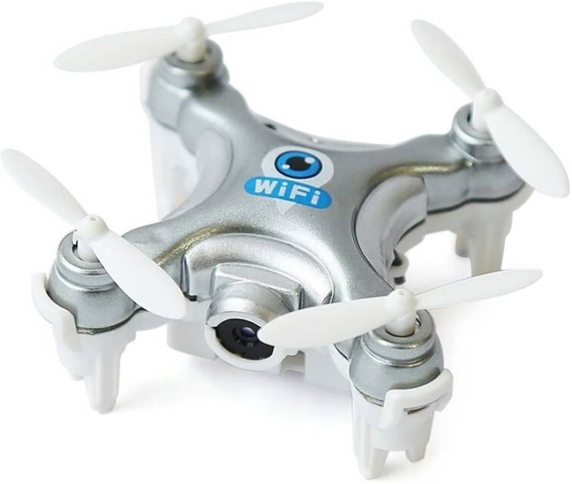IZED Silver Mini Wifi Drone HD 720p Flying Quadcopter Aerial View Camera With Extra