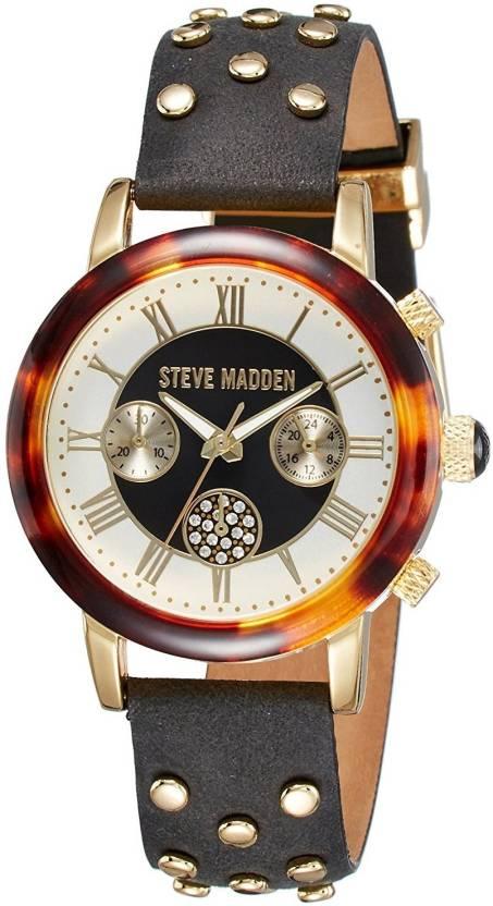 75ec4825692 Steve Madden SMW001G-BK Hybrid Watch - For Women