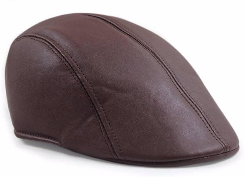 399b8089c30 Friendskart Leather Golf Cap In Brown Colour For Men s   Boys Cap - Buy Friendskart  Leather Golf Cap In Brown Colour For Men s   Boys Cap Online at Best ...