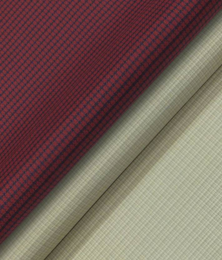 dced10ea8 Raymond Cotton Polyester Blend Self Design Shirt   Trouser Fabric (Un- stitched)