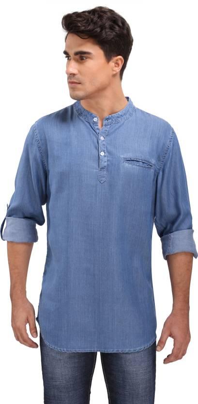 63893fa1bc Bombay Casual Jeans Men s Solid Straight Kurta - Buy Bombay Casual ...
