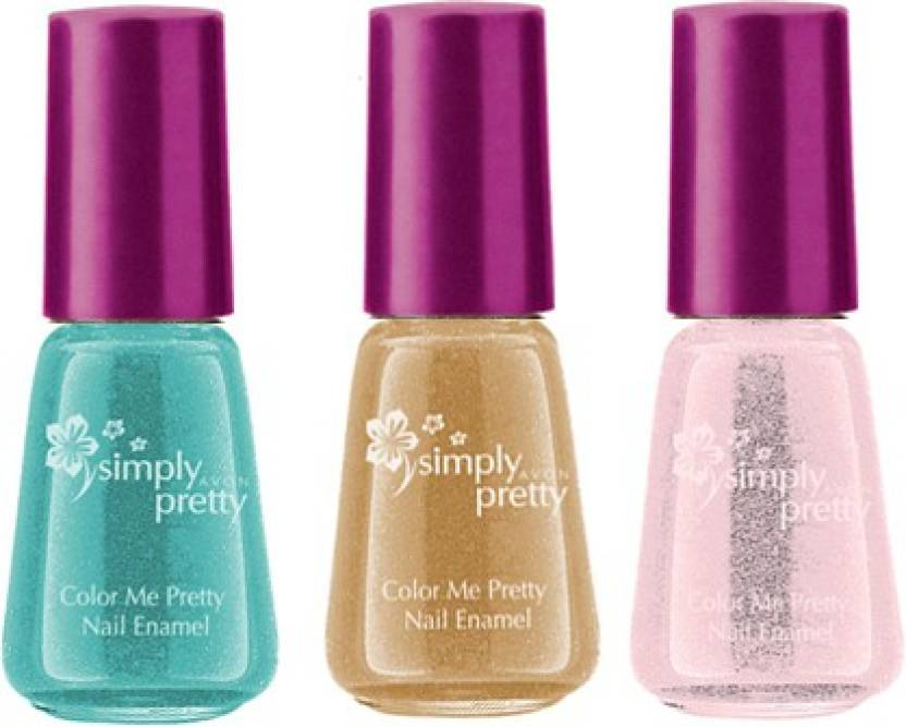 Avon Anew Color Me Pretty Nail Enamel Set Of 3 Ballerina Sweet