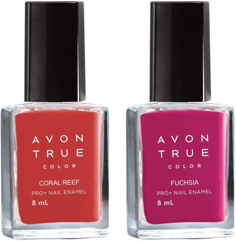 Avon Anew True Color Nail Wear Pro+ Nail Enamel (set of 2) fuschia ...