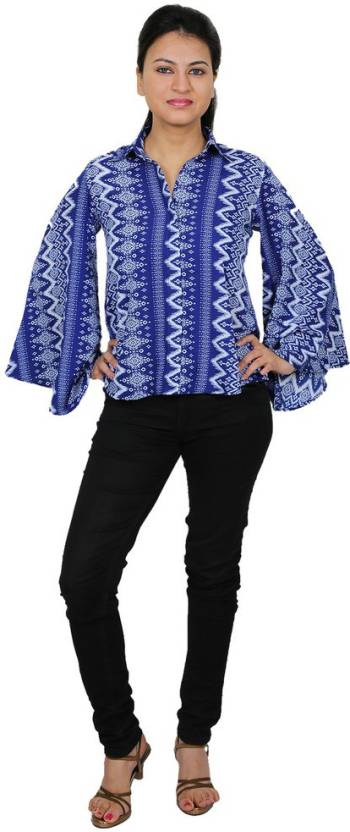 d861eaa0e7 Express 2 Impress Women s Printed Casual Shirt - Buy Express 2 ...