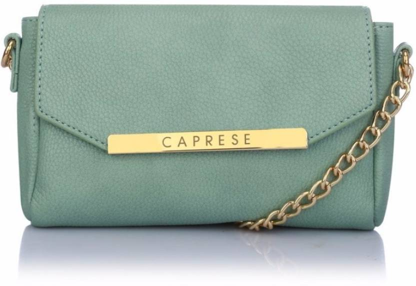 6e1d27fc69e Caprese Women Evening Party Green Leatherette Sling Bag Mint - Price in  India