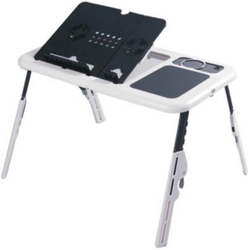 Edwin Clark Multipurpose Laptop Foldable Table E Table With 2 Usb Fan  Cooling Pad