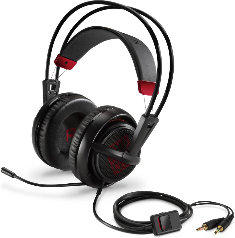 9cc66b9b22e HP OMEN with SteelSeries - X7Z95AA Wired Headset with Mic (Black, On the  Ear)