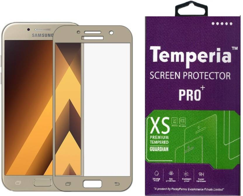 Temperia Tempered Glass Guard for Samsung Galaxy A7 2017 (5.7 inch, Gold) (Full Glass) (Pack of 1)