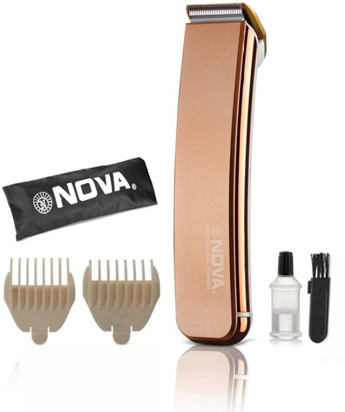 Nova NHT 1049 Titanium Coated Rechargeable Trimmer For Men (Gold) at just Rs.699 By Flipkart | Nova NHT 1049 Titanium Coated Rechargeable Trimmer For Men  (Gold) @ Rs.375