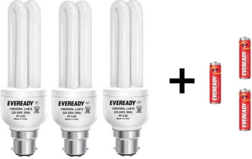 Eveready 15 W B22 CFL Bulb