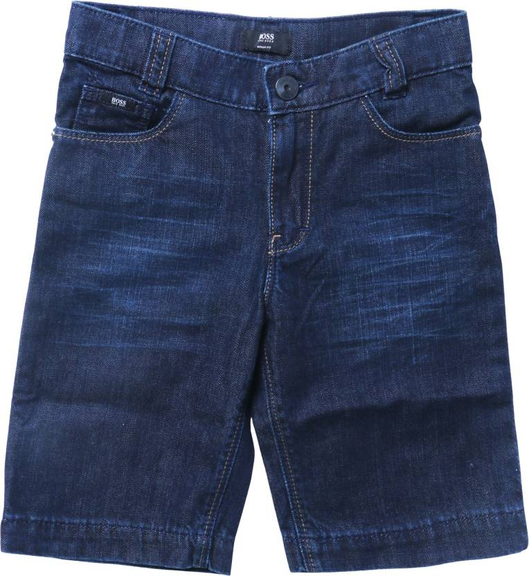 983767b0c Hugo Boss Short For Boys Casual Solid Cotton Price in India - Buy ...