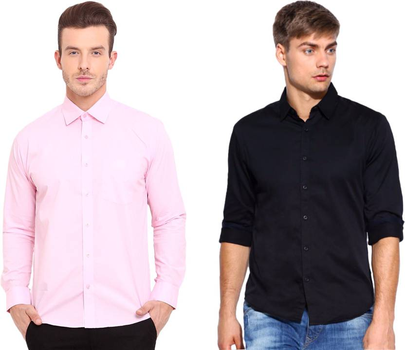 e4347f4c9eb2d Nirwe Men s Solid Casual Pink