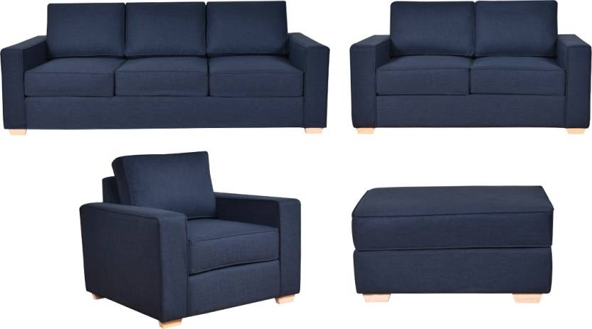 Furny Apollo Superb Fabric 3 2 1 Blue Sofa Set Price In India Online At Flipkart