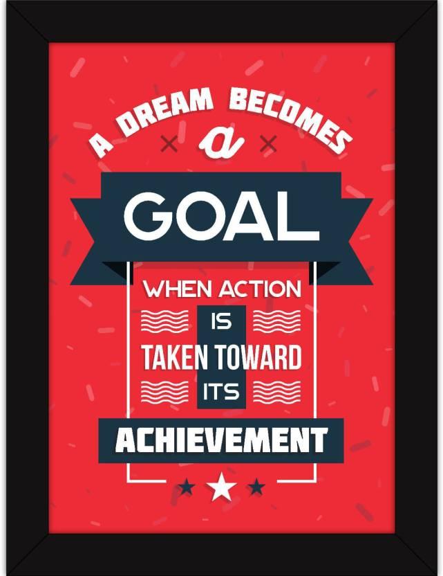 office motivational posters. Delighful Motivational Motivational Posters For Office And Home Decor  Dream Becomes A Goal  Framed Artwork Intended