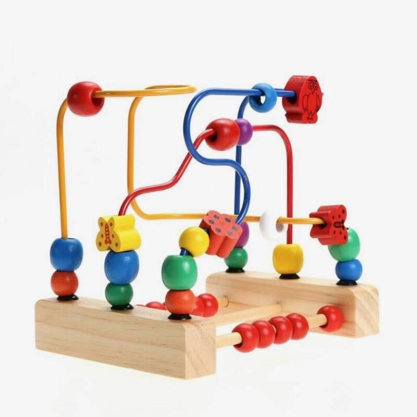 Trinkets More Wooden Beads Maze Roller Coaster Toddler Large