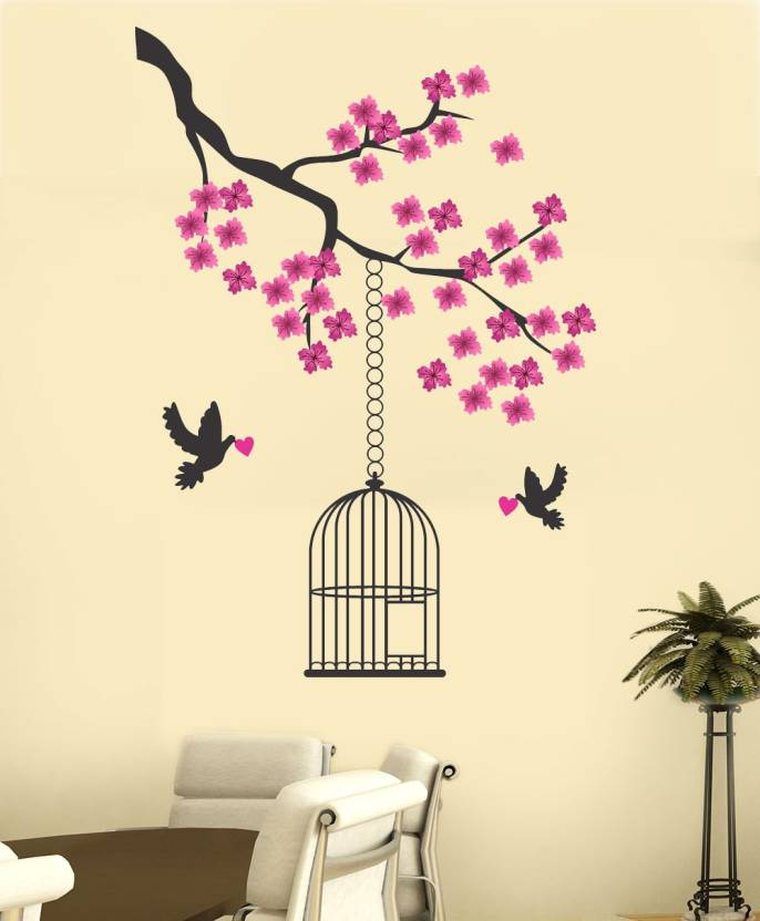 new way decals wall sticker romance wallpaper price in india - buy