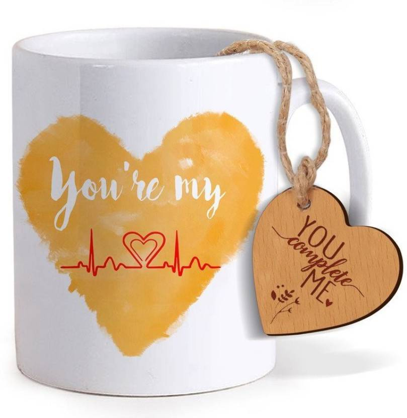 Tied Ribbons Best Birthday Gift For Boyfriend Coffee Mug325ml With Heart Shaped Wooden Engraved Tag Mug Set Price In India