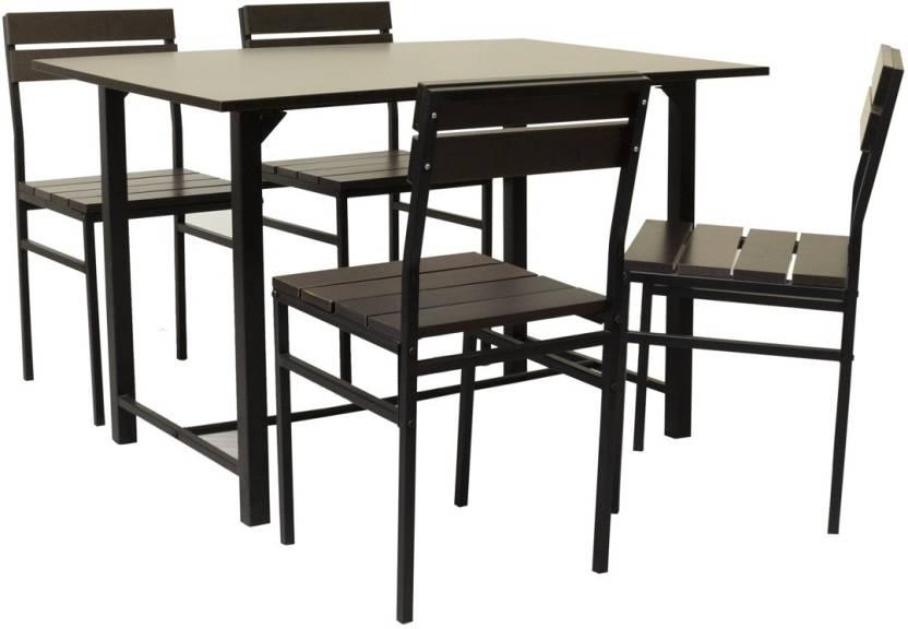 Furniturekraft Oslo Metal 4 Seater Dining Set