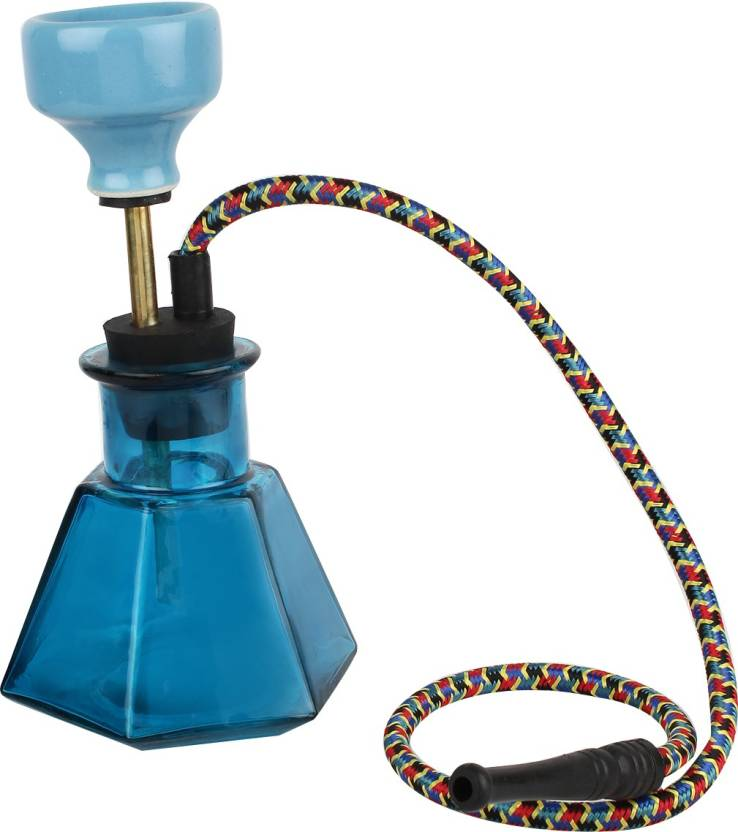 pegs'N'pipes Econo 9 inch Glass, Brass Hookah