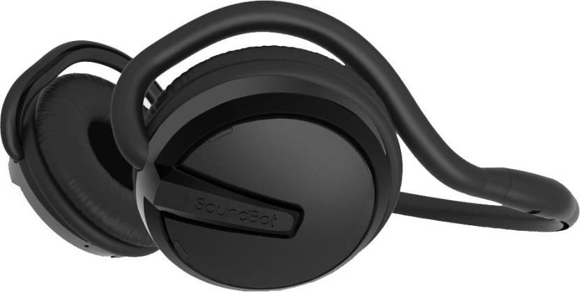 0c6ba156f73 Soundbot SOUNDBOT® SB221 BLUETOOTH HEADPHONE WIRELESS HEADSET(BLACK) Bluetooth  Headset with Mic (Black, On the Ear)