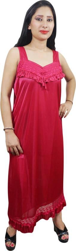 Indiatrendzs Women's Nighty with Robe