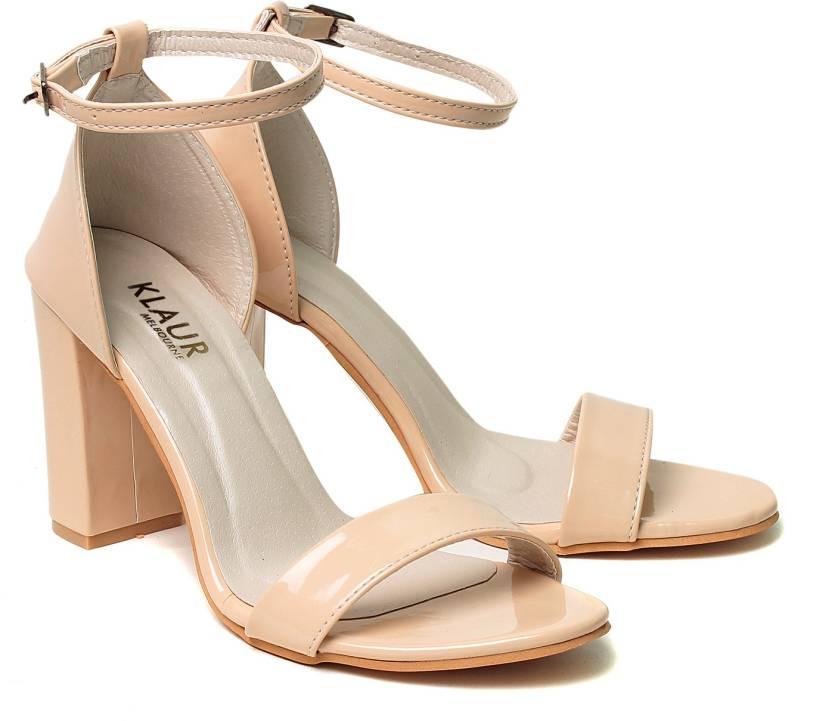 Klaur Melbourne Women Cream Heels - Buy Klaur Melbourne Women ...