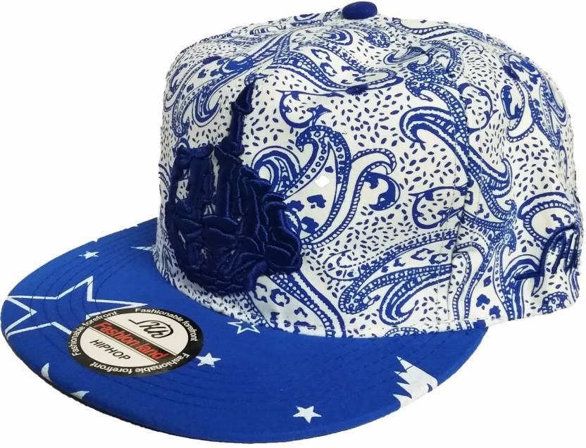 ec192f766d4a0 Friendskart Printed Blue Hip Hop Style Cap For Dancer, Boys,Girls ...