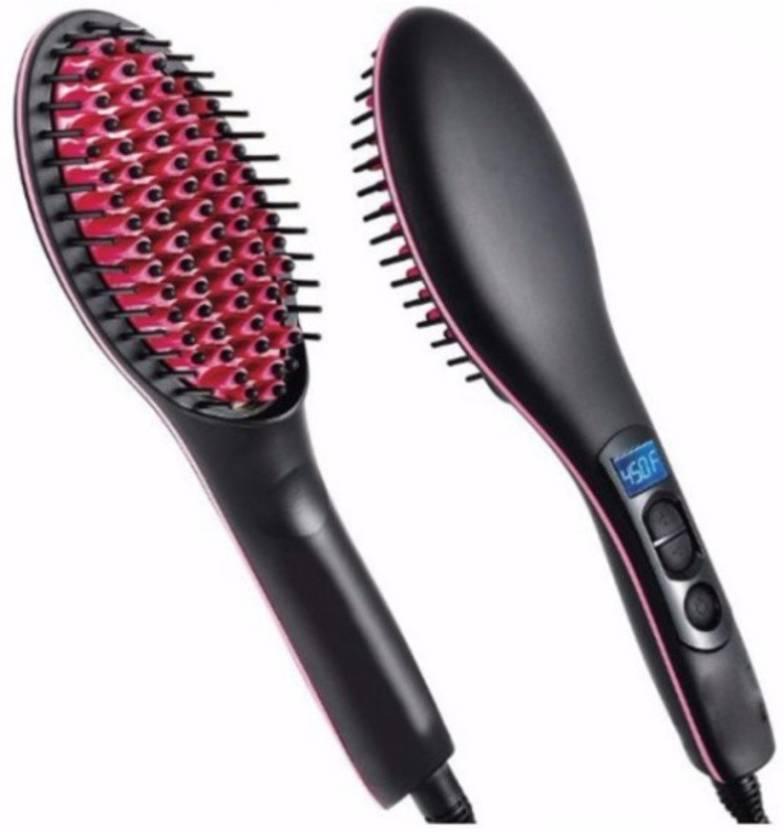 Wonder World Styler Hair Straight™  Type 666 ® Straight Iron Fast Styling Ceramics Comb Brush Black