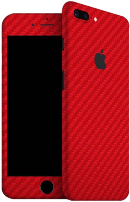 Gadgetswrap S 541 Red Carbon Skin For Front Back Of Apple Iphone 7