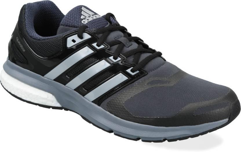 Adidas questar tf m per gli uomini comprano scarpe da corsa cnero / silvmt / dkgrey