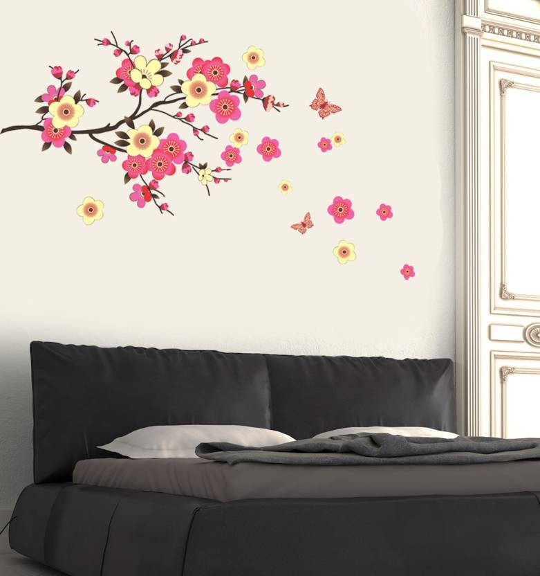 new way decals wall sticker floral & botanical wallpaper price in