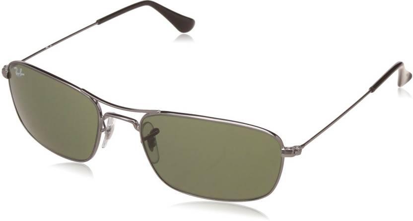 9420aaf1e90 Buy Ray-Ban Rectangular Sunglasses Green For Men Online   Best ...
