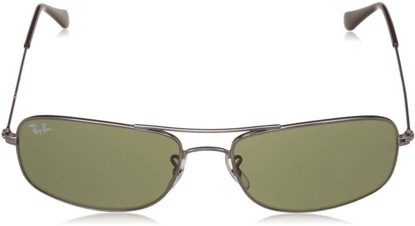 7cf9ba72a2579 Buy Ray-Ban Rectangular Sunglasses Green For Men Online   Best ...
